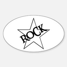 ROCK STAR Oval Decal