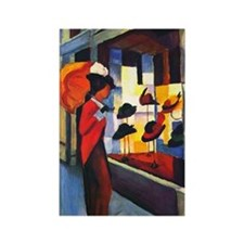 August Macke Rectangle Magnet