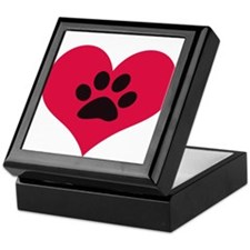 pawprintheartplain Keepsake Box