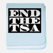 END THE TSA baby blanket