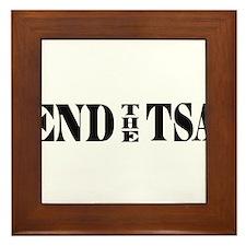 END THE TSA Framed Tile