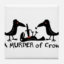 A Murder of Crows Tile Coaster