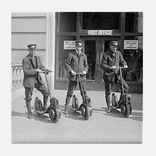 Vintage Postmen On Scooters Tile Coaster