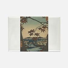 Maple trees at Mama - Hiroshige Ando - 1857 Magnet