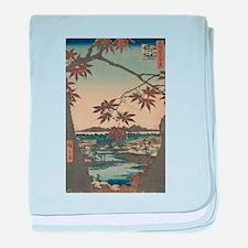 Maple trees at Mama - Hiroshige Ando - 1857 baby b