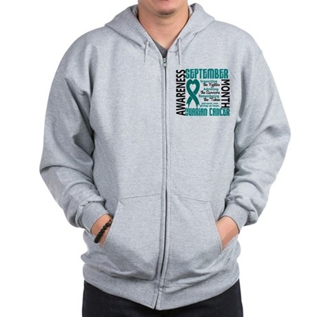 Ovarian Cancer Awareness Month Zip Hoodie