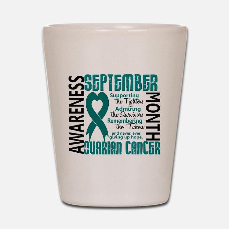 Ovarian Cancer Awareness Month Shot Glass
