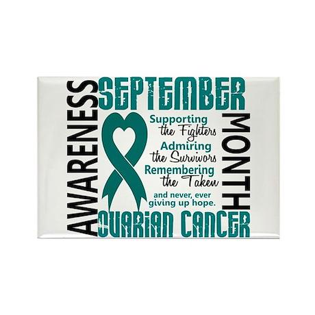 Ovarian Cancer Awareness Month Rectangle Magnet