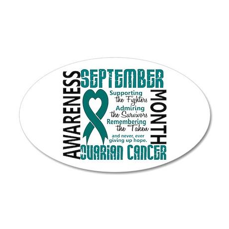 Ovarian Cancer Awareness Month 20x12 Oval Wall Dec