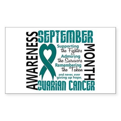 Ovarian Cancer Awareness Month Sticker (Rectangle)