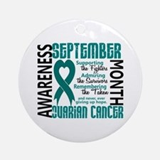 Ovarian Cancer Awareness Month Ornament (Round)