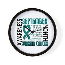 Ovarian Cancer Awareness Month Wall Clock