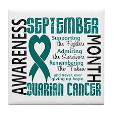 Ovarian Cancer Awareness Month Tile Coaster