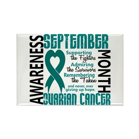 Ovarian Cancer Awareness Month Rectangle Magnet (1