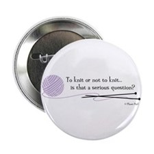 """to-knit.png 2.25"""" Button (10 pack)"""
