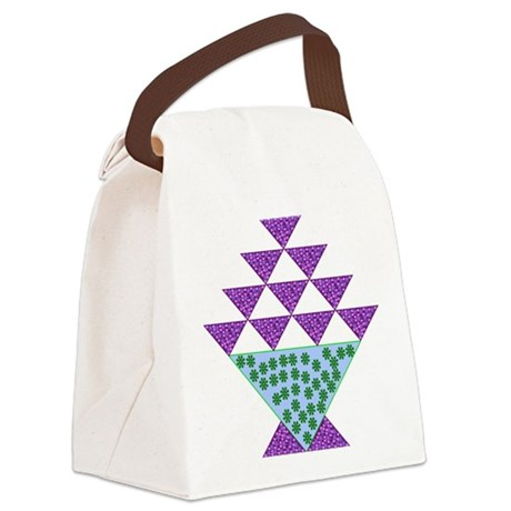 Flower Pot Quilt Canvas Lunch Bag