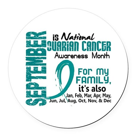 Ovarian Cancer Awareness Month Round Car Magnet