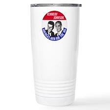 KENNEDY / JOHNSON Stainless Steel Travel Mug