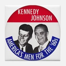 KENNEDY / JOHNSON Tile Coaster