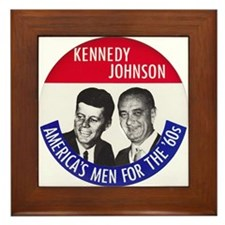 KENNEDY / JOHNSON Framed Tile