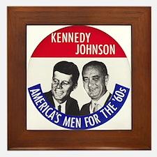 KENNEDY / JOHNSON Framed Tile