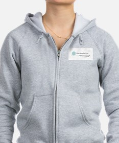 """""""I Knit Therefore I Am"""" Zip Hoodie"""