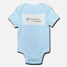 """""""I Knit Therefore I Am"""" Infant Bodysuit"""