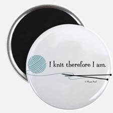 """I Knit Therefore I Am"" Magnet"