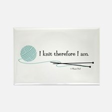 """""""I Knit Therefore I Am"""" Rectangle Magnet (100 pack"""