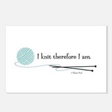 """""""I Knit Therefore I Am"""" Postcards (Package of 8)"""