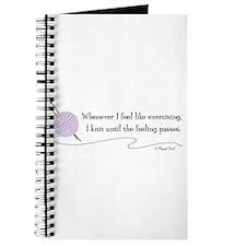 """""""Whenever I Feel Like Exercising"""" Journal"""