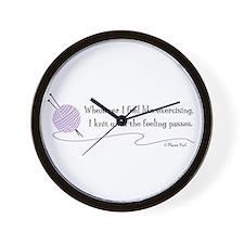 """Whenever I Feel Like Exercising"" Wall Clock"