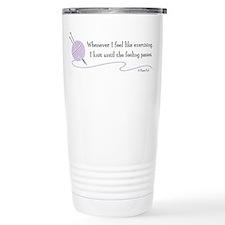 """Whenever I Feel Like Exercising"" Travel Mug"