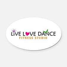 Live Love Dance Oval Car Magnet