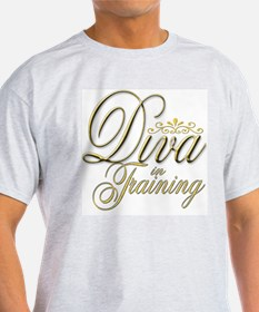 Diva in Training Ash Grey T-Shirt