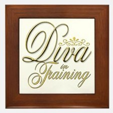 Diva in Training Framed Tile