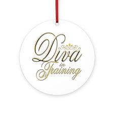 Diva in Training Ornament (Round)