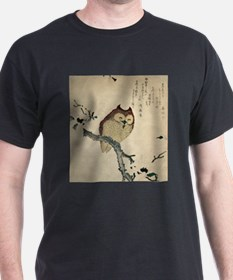 Owl and magnolia - Anon - 1870 T-Shirt