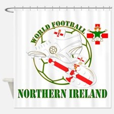 Northern Ireland World Football Shower Curtain