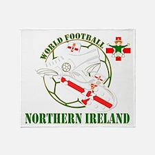 Northern Ireland World Football Throw Blanket