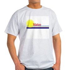 Matteo Ash Grey T-Shirt