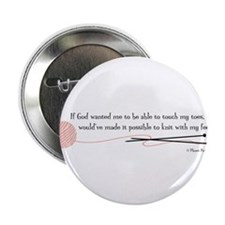 """Knit with my Feet"" 2.25"" Button (10 pack)"