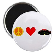 "Peace Love UFO 2.25"" Magnet (10 pack)"