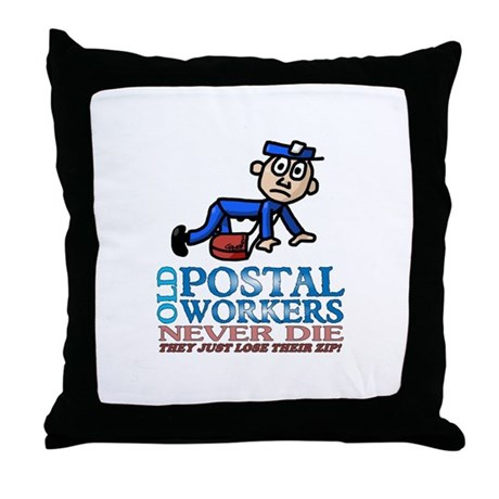 Postal Throw Pillow