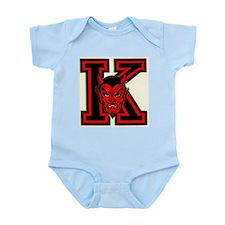 """Yo-Hi """"K"""" with Red Devil Face Infant Bodysuit"""