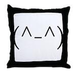 Anime Smiley 2 Throw Pillow