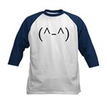 Anime Smiley 2 Kids Baseball Jersey