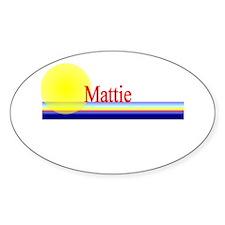 Mattie Oval Decal