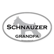 Schnauzer GRANDPA Oval Decal