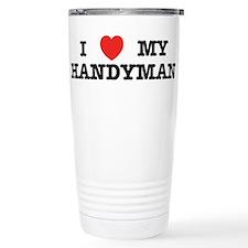 I Heart My Handyman Travel Mug
